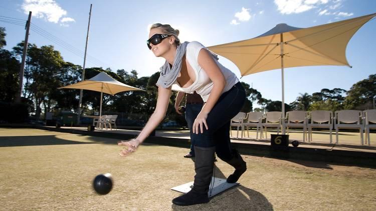 Woman at Paddington Bowling Club