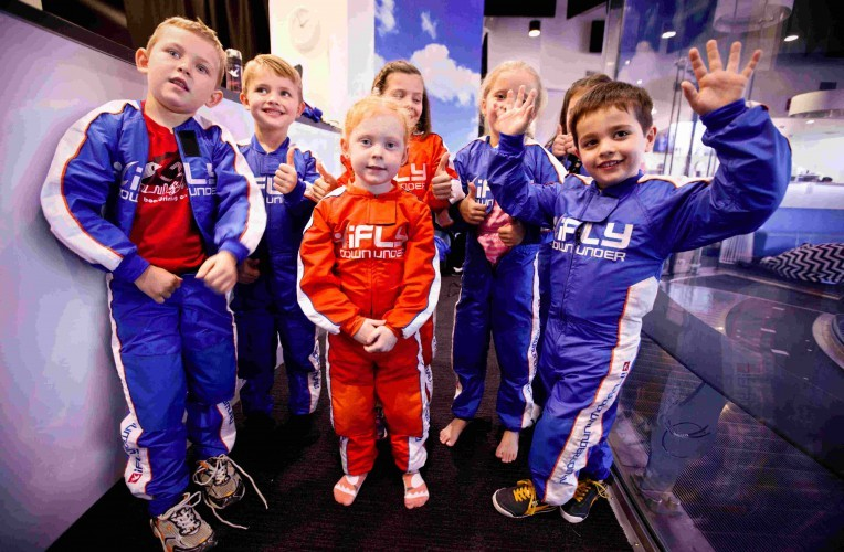 Children at iFly