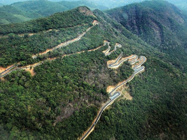 Enjoy the spectacular view along the 18-hairpin bends