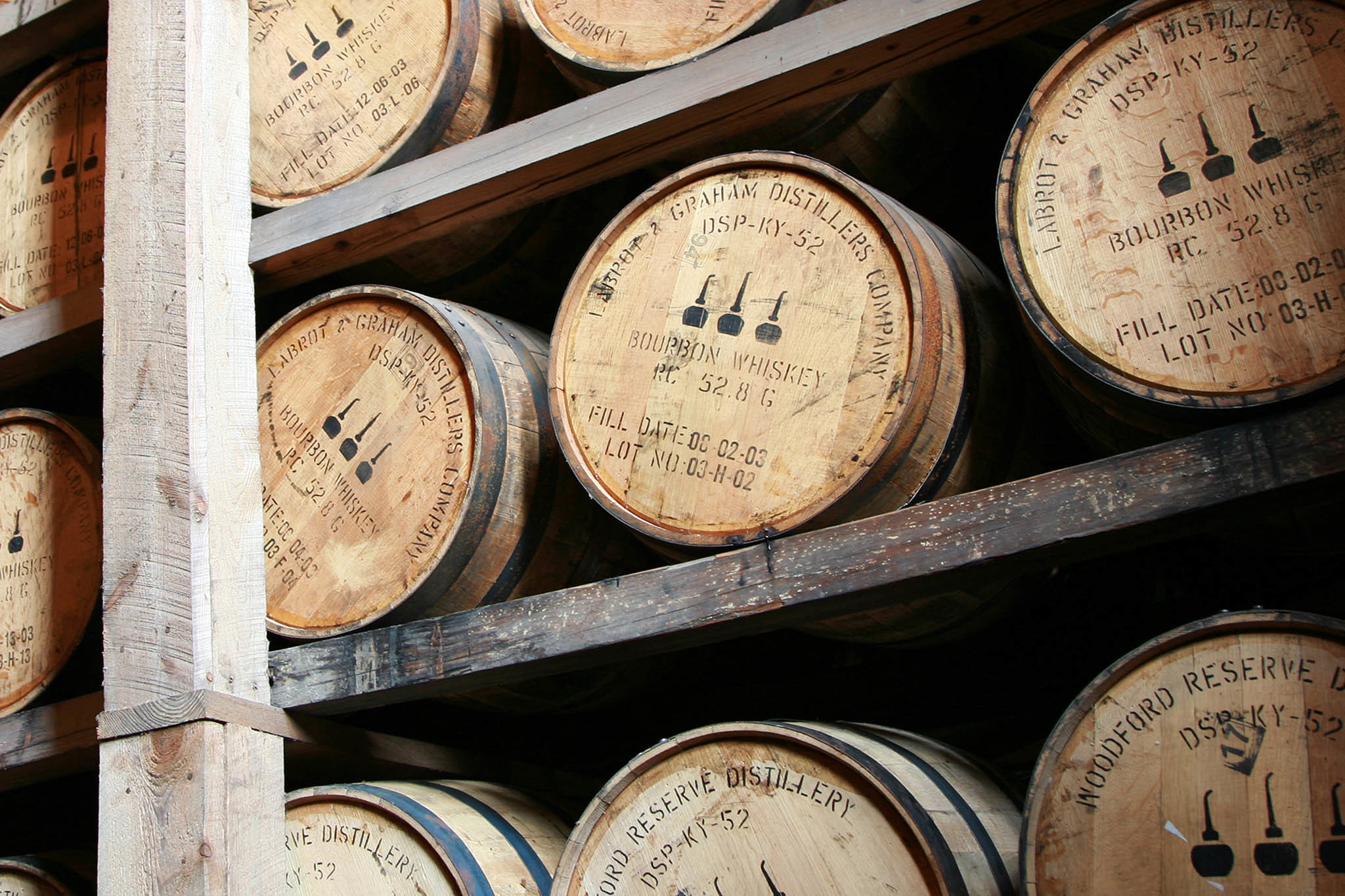 Barrels of bourbon outnumber humans in Kentucky.