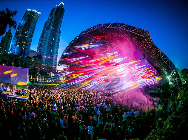Here's your first look at the Ultra Music Festival light display