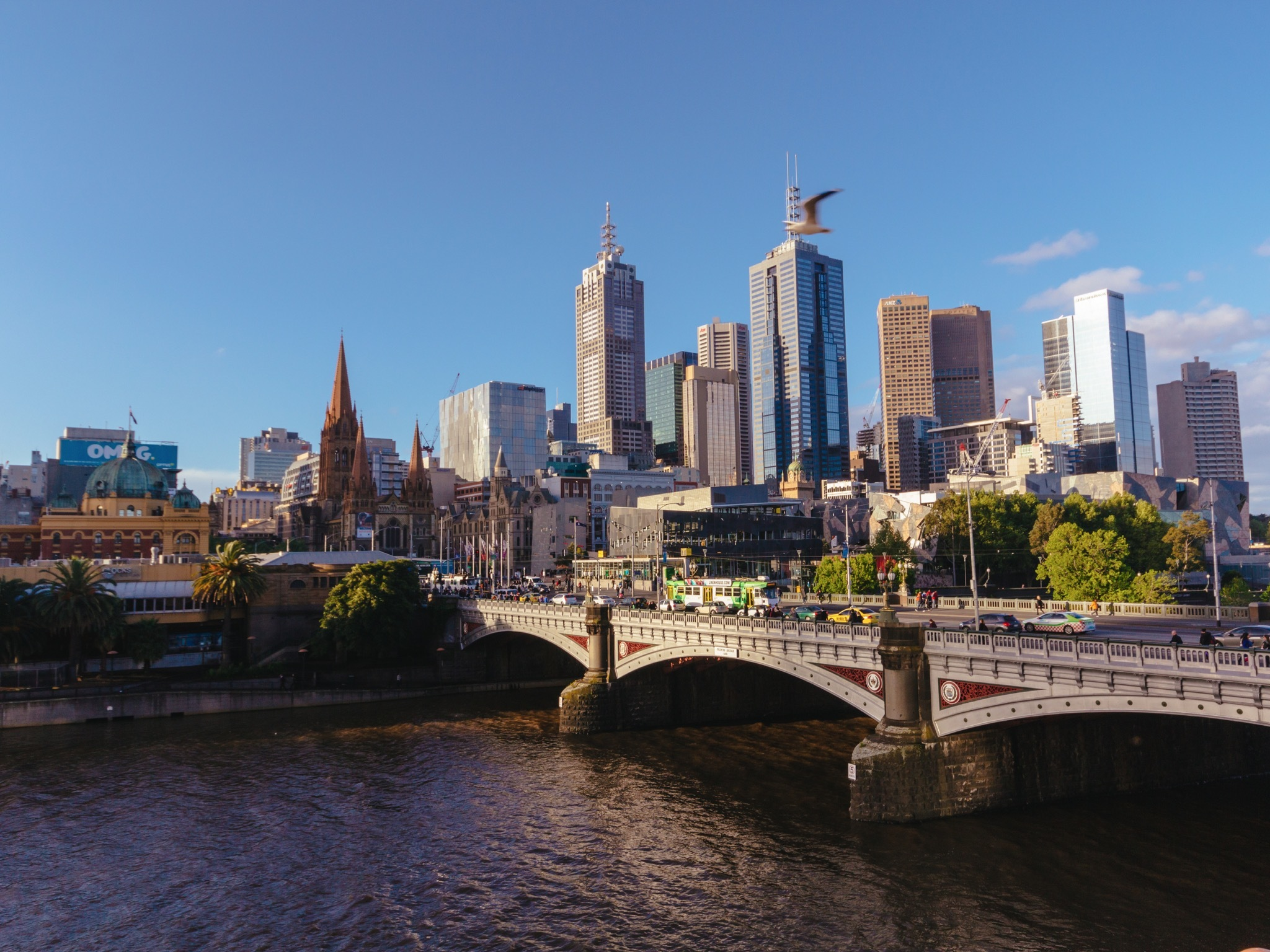 Melbourne CBD skyline from Southbank
