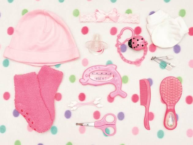 Pink kids items