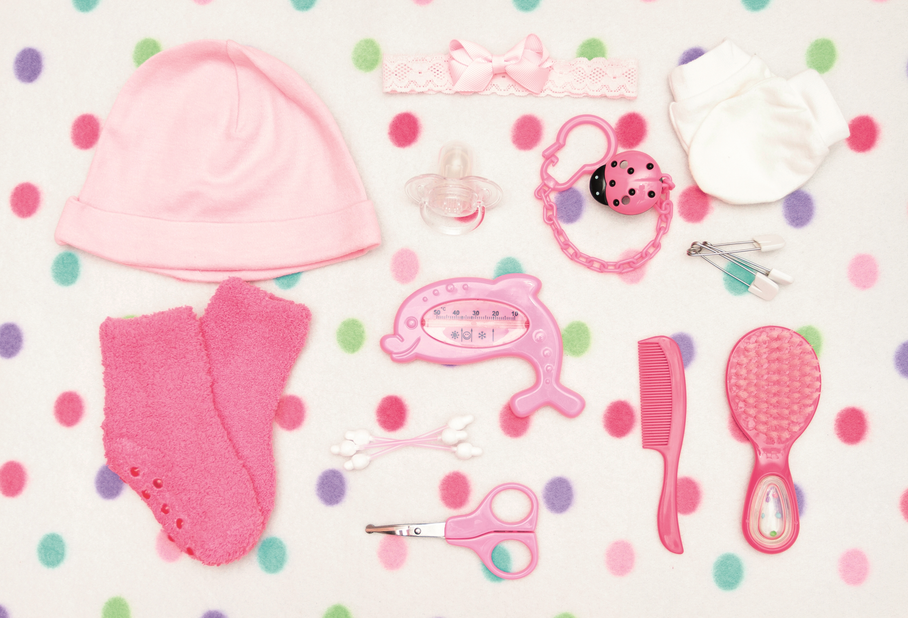 Pink kids items