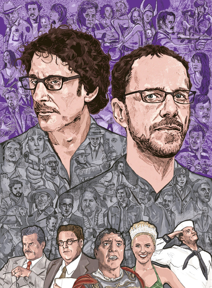 The Coen Brothers illustration