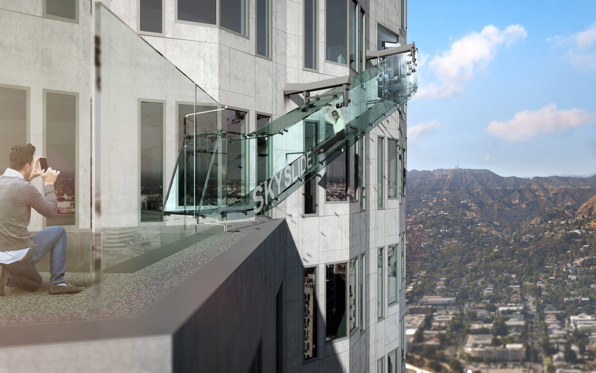 There's a glass slide coming to the 70th floor of the US Bank Tower