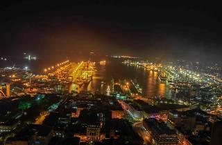 Colombo city at night