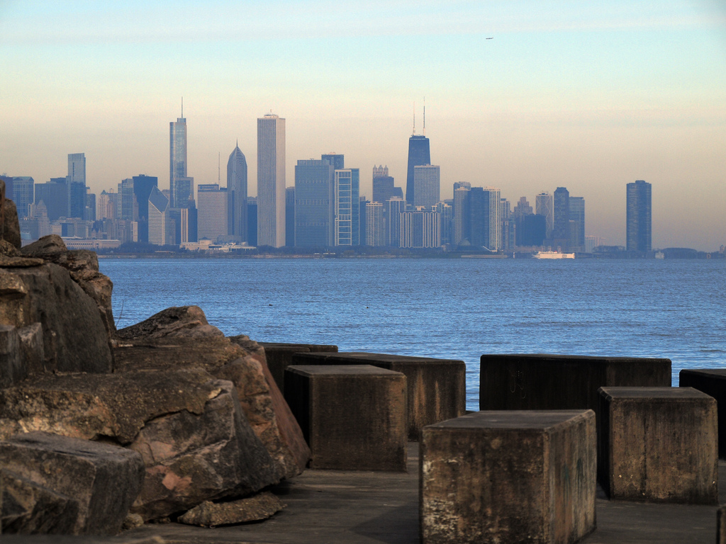 Chicago skyline from Promontory Point