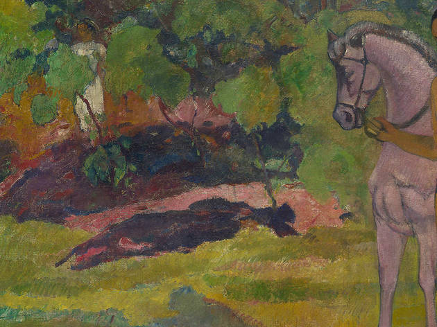 Paul Gauguin, In the Vanilla Grove, Man and Horse (Dans la vanillère, homme et cheval), 1891
