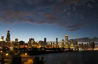 Chicago skyline night 6