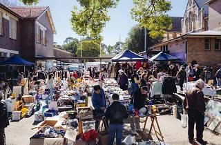 Stalls at Rozelle Markets