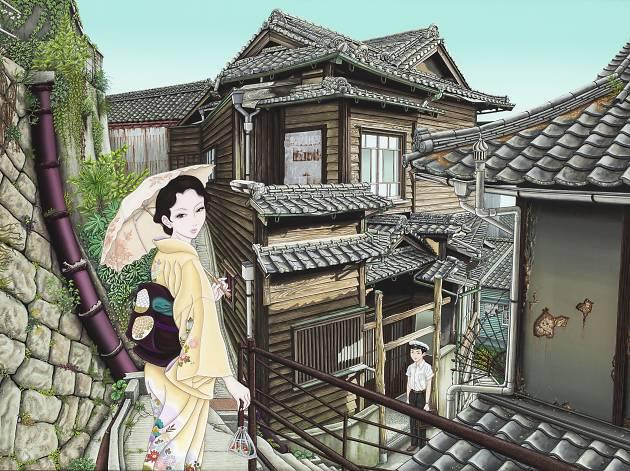 A painting by Yuji Moriguchi