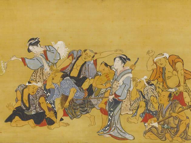 Ukiyo-e by Yumisho of Katsukawa school
