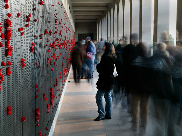 Australian War Memorial Canberra poppy wall