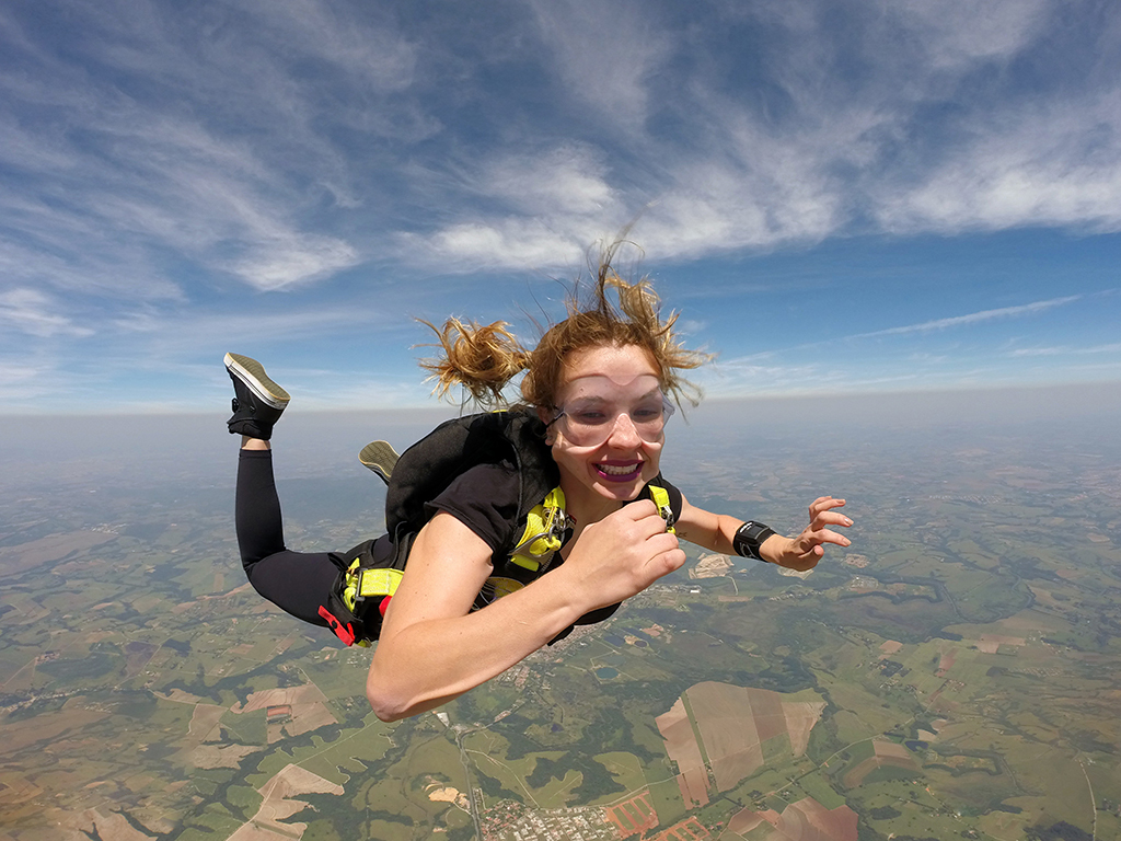 Skydiving girl