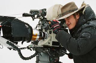 Quentin Tarantino filming The Hateful Eight