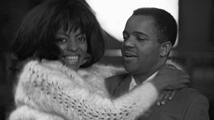 Berry Gordy with Diana Ross in London, 1965. Image courtesy of Adam White