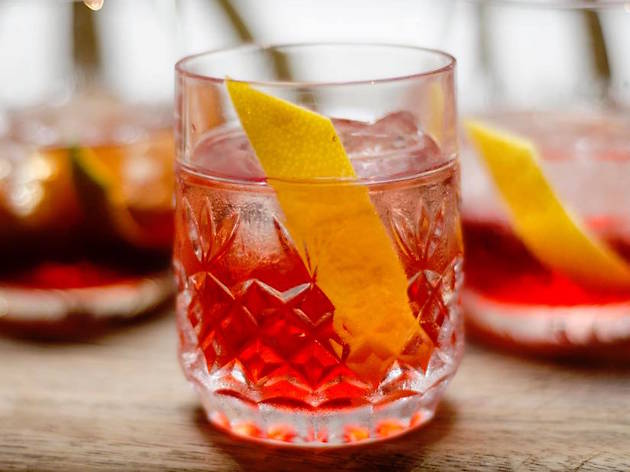 Gin Palace Negroni cocktail