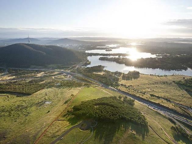 National Arboretum Canberra aerial view