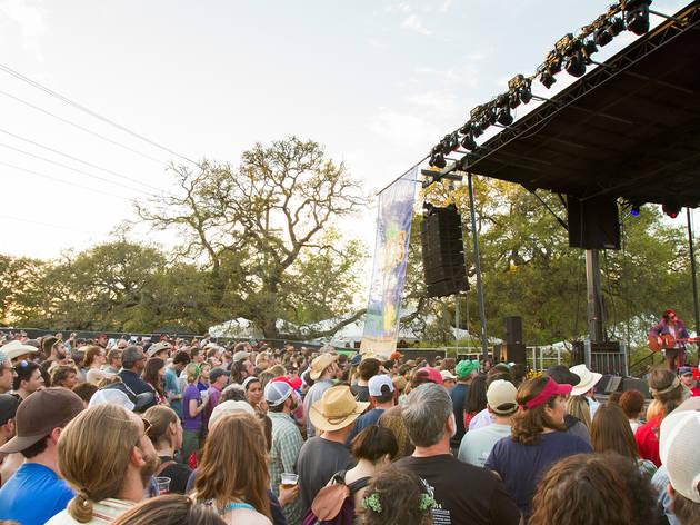 Shovels & Rope performing at Old Settler's Music Festival