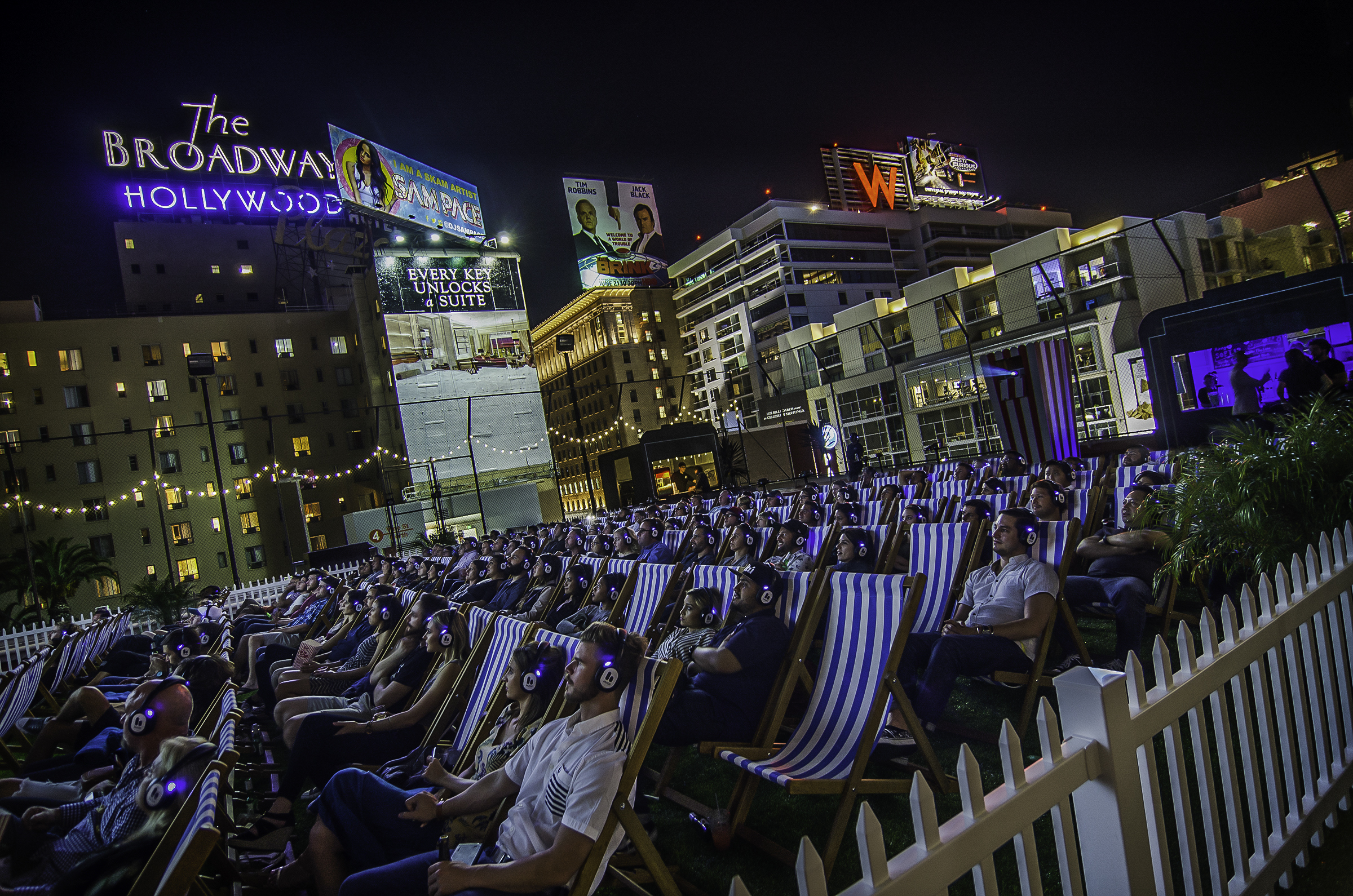 Watch a movie on a Hollywood rooftop