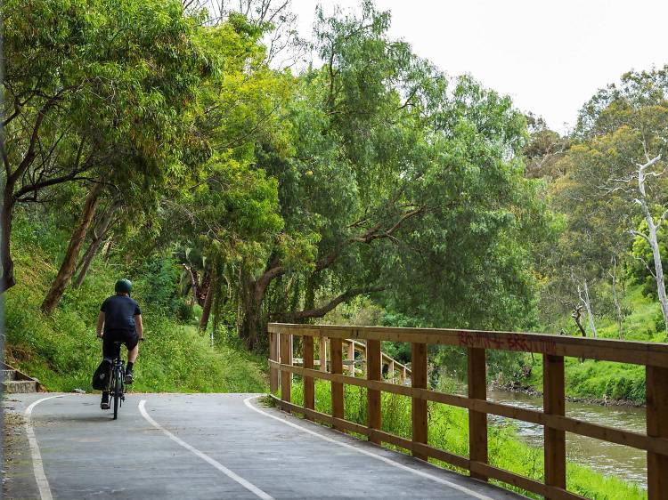 Go for a bike ride along the Yarra Trail