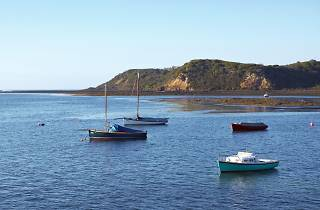 Boats moored at Flinders on the Mornington Peninsula