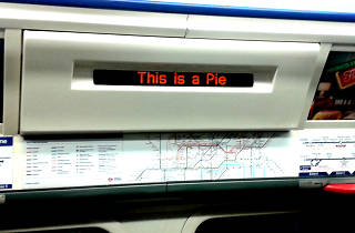 This Is A Pie. Piccadilly Line sign