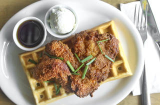 Chicken and Waffles at Poppy + Rose