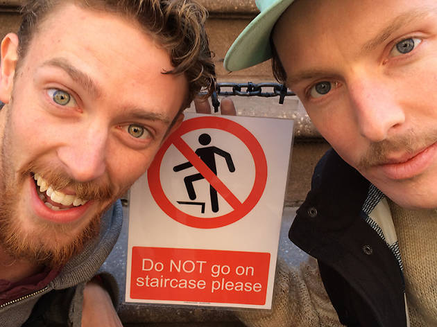 "Tim Batt and Guy Montgomery of Podcast ""The Worst Idea of All Time"""