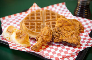 Chicken and waffles at TJ's Sweetie Pies