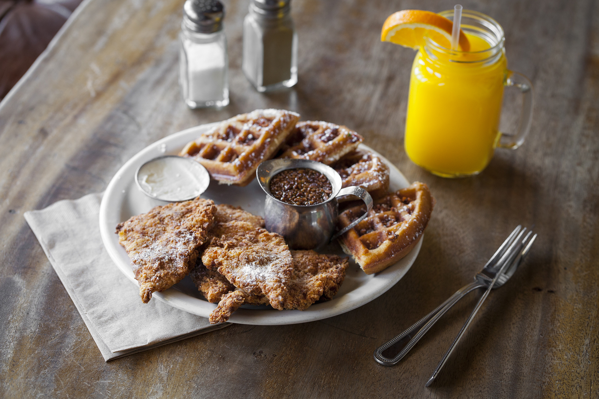 LA's best chicken and waffles