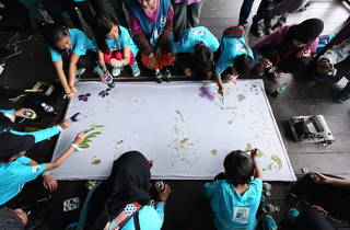 Earth Hour at The School by Jaya One