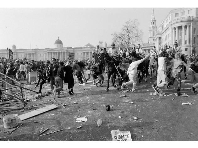 Best London photos: David Hoffman: Poll tax demonstrations, Trafalgar Square, 1990. © David Hoffman