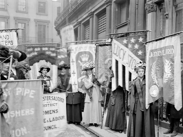 Best London photos: 13.-Suffragettes-taking-part-in-a-pageant-organised-by-The-National-Union-of-Womens-Suffrage-Societies-13-June-1908