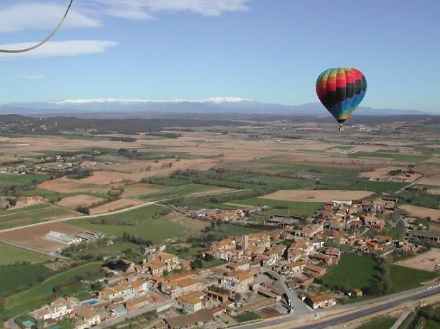 Fly over the city in a hot air balloon