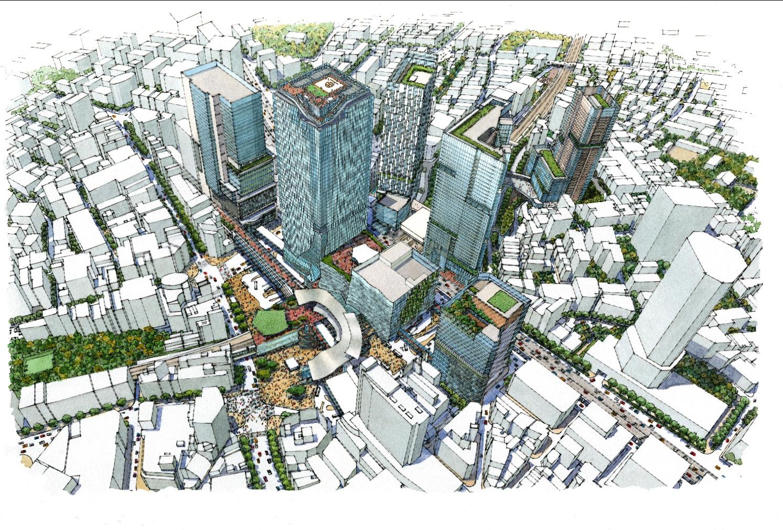 2027年頃の渋谷の未来予想図