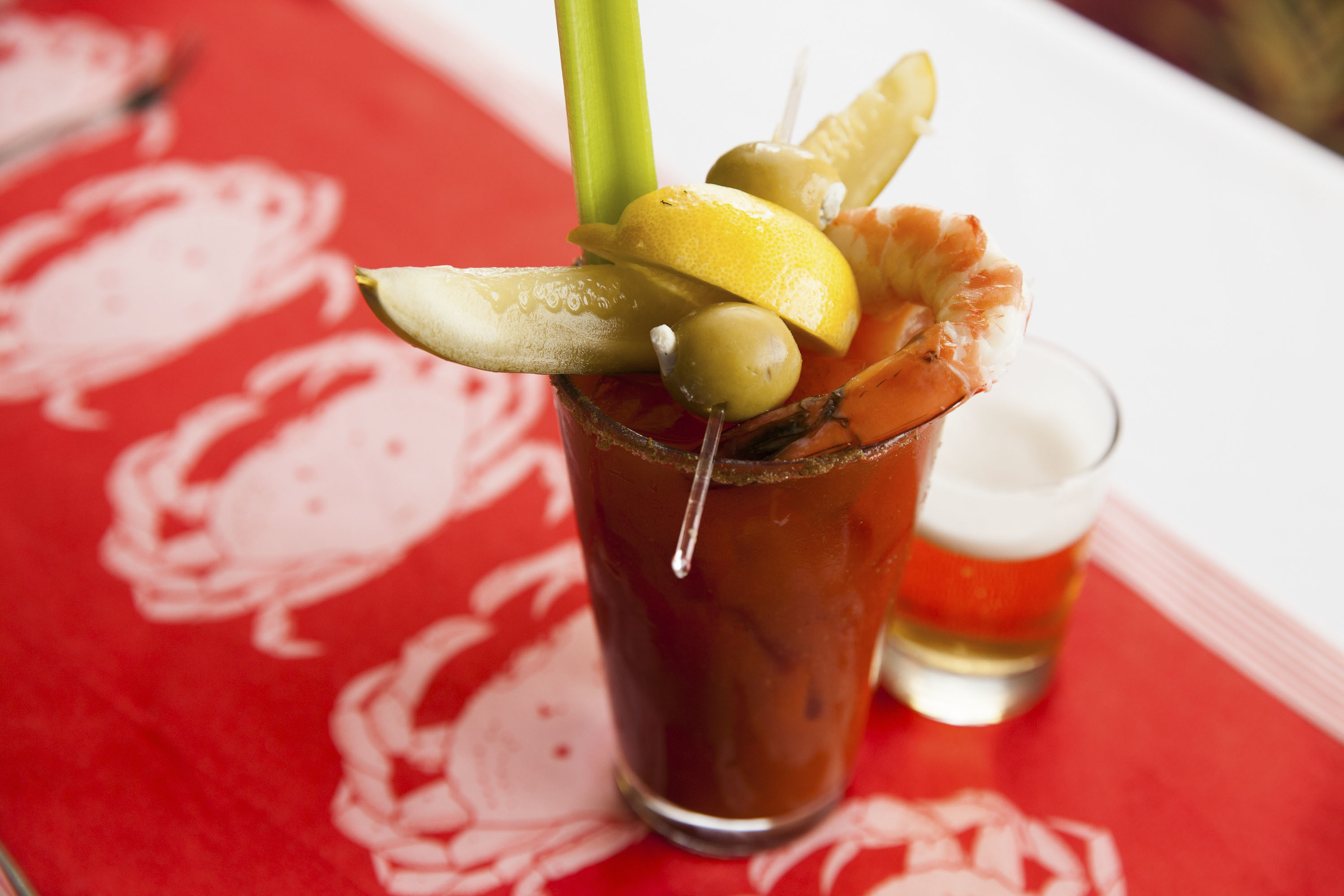 Shaw's Bloody Mary at Shaw's Crab House