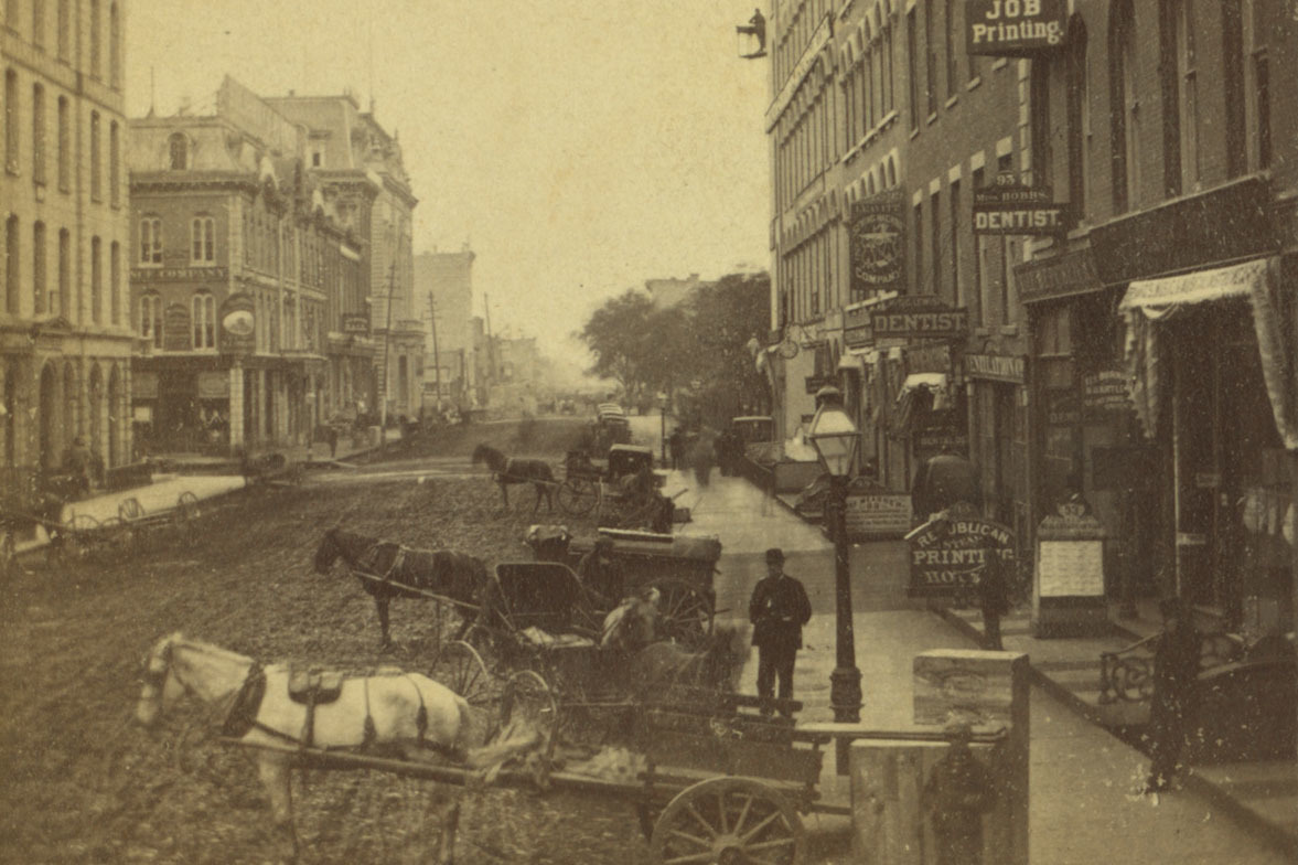 Then and Now: Washington and Dearborn streets