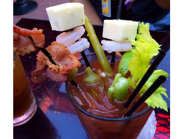 Bloody Mary bar at La Cita