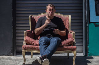 Corey White 2015 in armchair