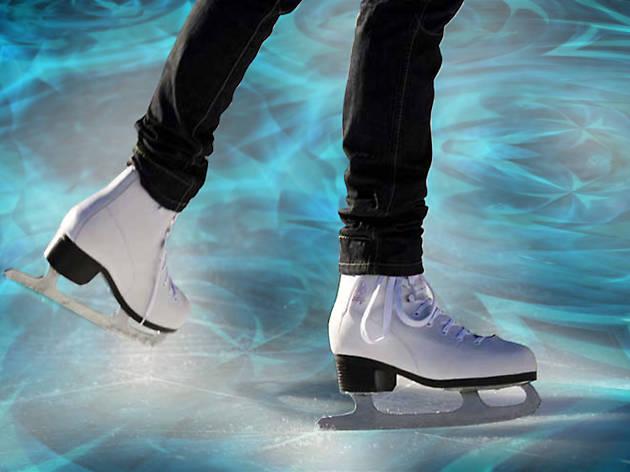 Surface ice skating