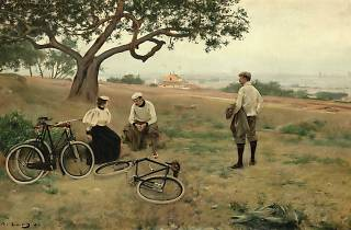 El descans dels ciclistes, de Ramon Casas