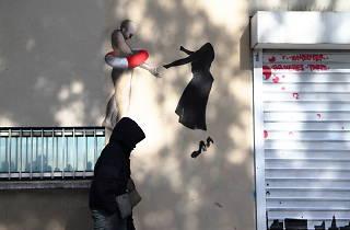 Street art Paris Belleville Piaf