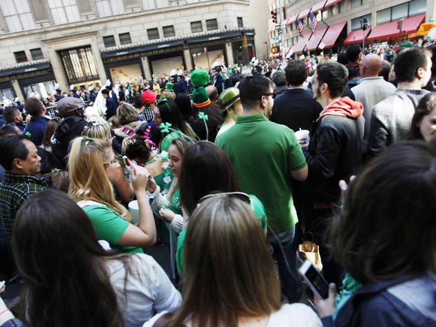 St. Patrick's Day Parade 2016, NYC, Thursday, March 17, 2016, 5th and 6th aves, midtown, New York City
