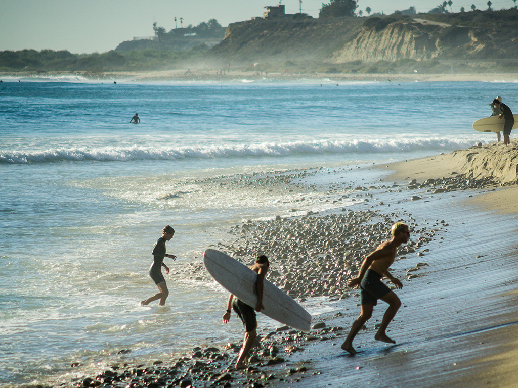 Surfing at San Onofre