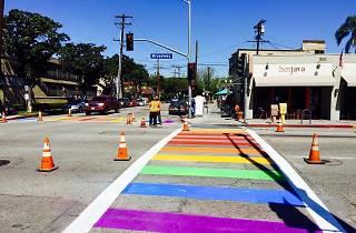 Long Beach paints rainbow stripes on crosswalks ahead of Beach Streets and Pride