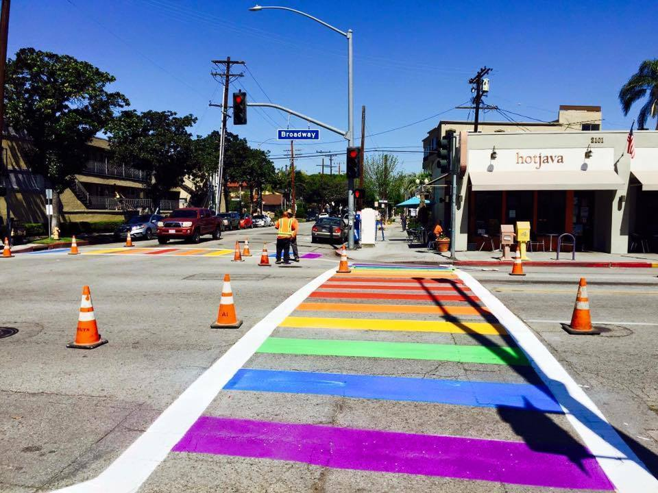 Long Beach's rainbow crosswalks