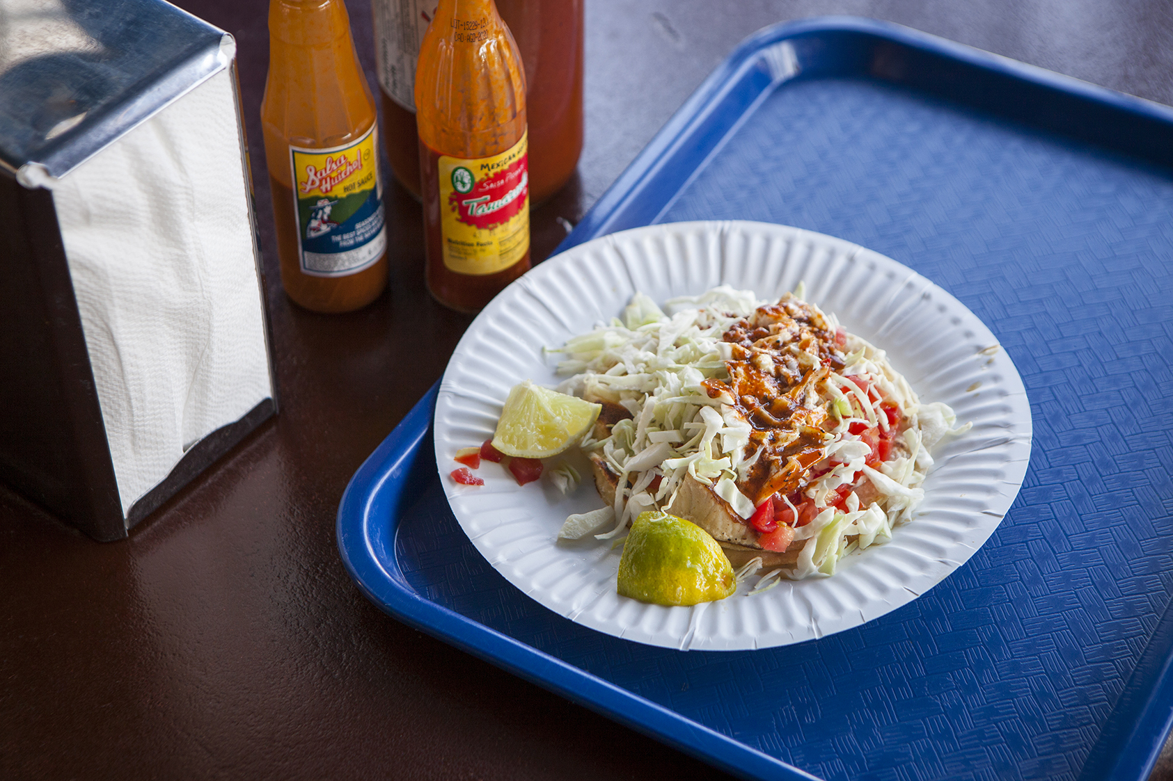 Mahi fish tacos at Via-Mar Seafood Restaurant