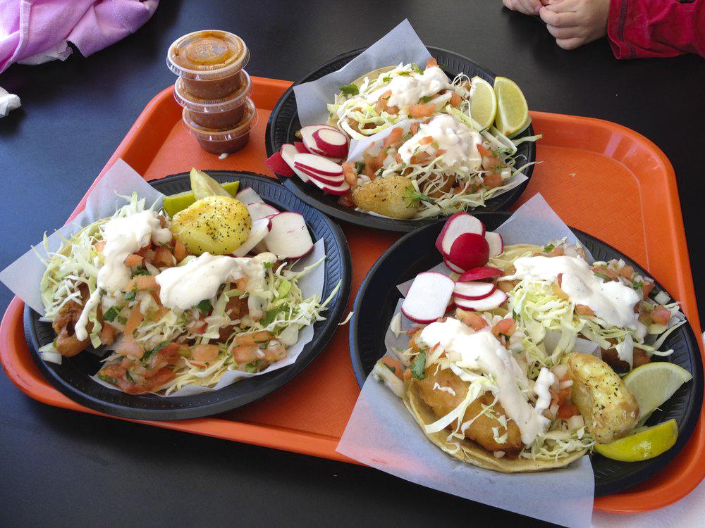 Fish tacos at Taco Nazo